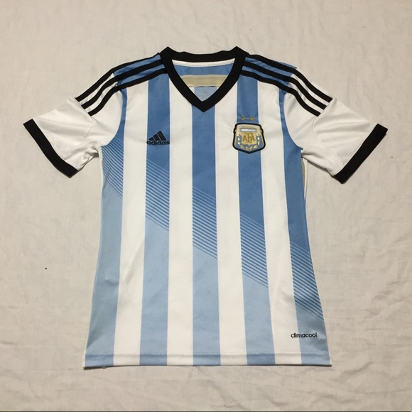 new style 9b05d ccac2 Adidas Climacool Boys Youth Messi Argentina Jersey